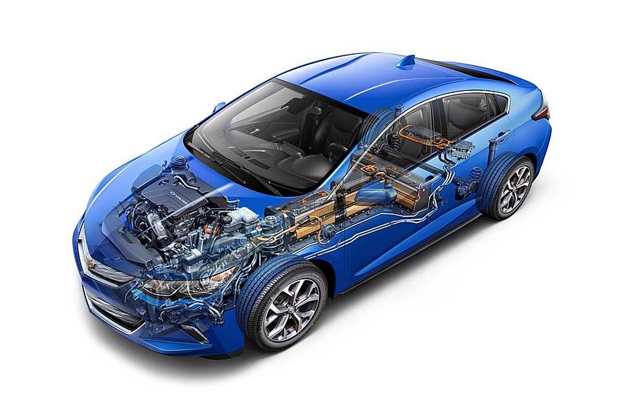Фото обновленного Chevrolet Volt 2015-2016