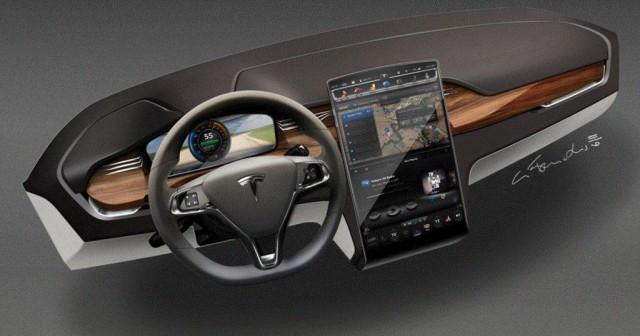 Tesla X приборная панель