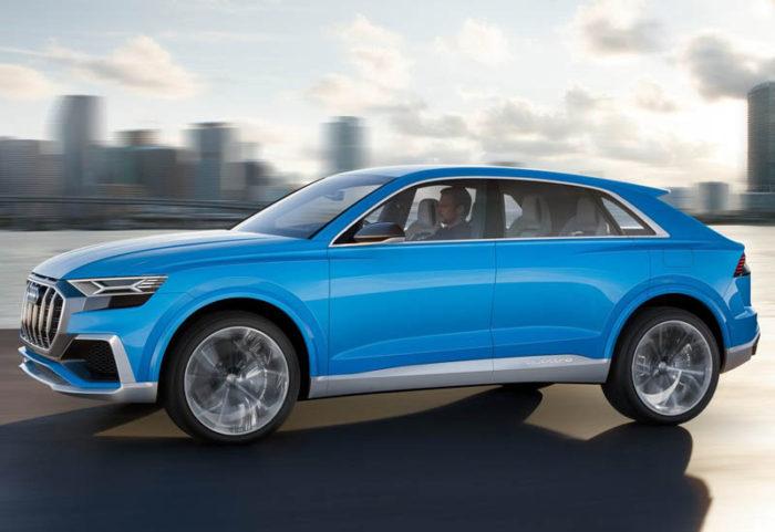 Представлен прообраз кросс-купе Audi Q8 E-tron 2017-2018 в новом кузове