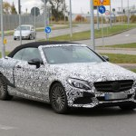 Кабриолет C-Class Mercedes-Benz на тестах